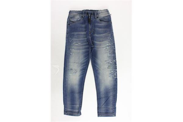 jeans 5 tasche elastico in vita DIESEL | Jeans | 00J463-K683S-K01BLU