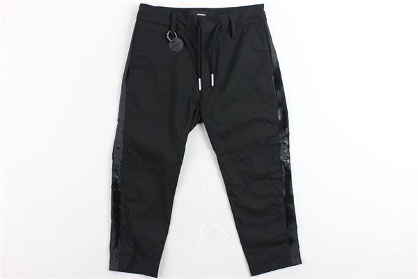 pantaloni tinta unita tasca a filo cavallo basso profili in ecopelle DIESEL | Pantaloni | 00J48MNERO