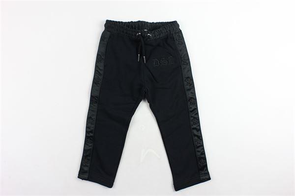 pantalone in felpa tasca a filo tinta unita con stampa DIESEL | Pantaloni | 00J4F2NERO