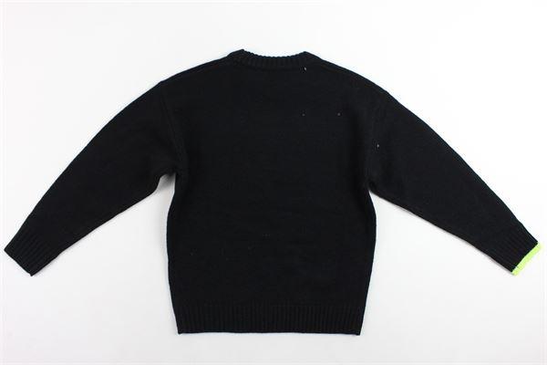 maglione in lana girocollo tinta unita con stampa DIESEL | Maglie | 00J4GNNERO