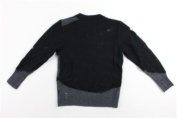 maglione in lana girocollo tinta unita con profili in contrasto DIESEL | Maglie | 00J4GRNERO