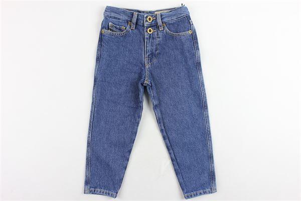 jeans 5 tasche vita alta tinta unita modello boyfriend DIESEL | Jeans | 00J4HKBLU