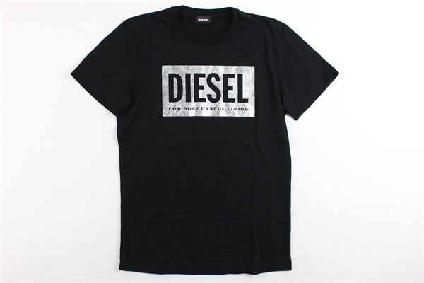 t-shirt mezza manica tinta unita con stampa DIESEL | T-shirts | 00J4IENERO