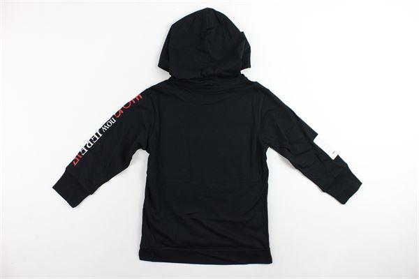 shirt in cotone con cappuccio tinta unita con stampa DIESEL | Shirts | 00J4J8NERO