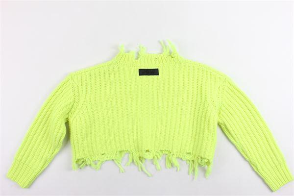 maglione corto tinta unita DIESEL | Maglie | 00J4JBGIALLO FLUO