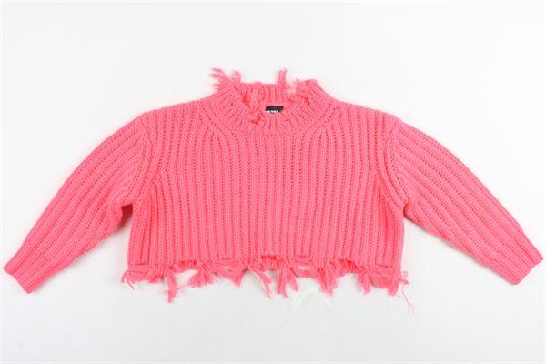 maglione corto tinta unita DIESEL | Maglie | 00J4JBROSA FLUO