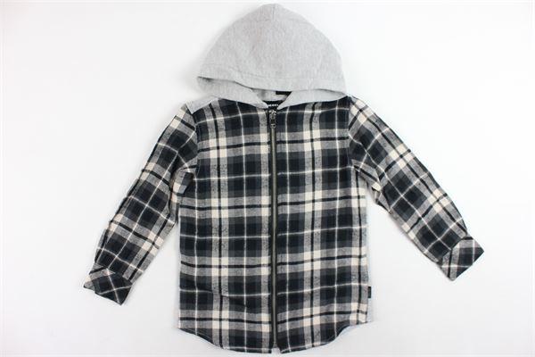 camicia manica lunga in cotone fantasia a quadri con cappuccio e zip DIESEL | Felpe | 00J4OR0AARTGRIGIO