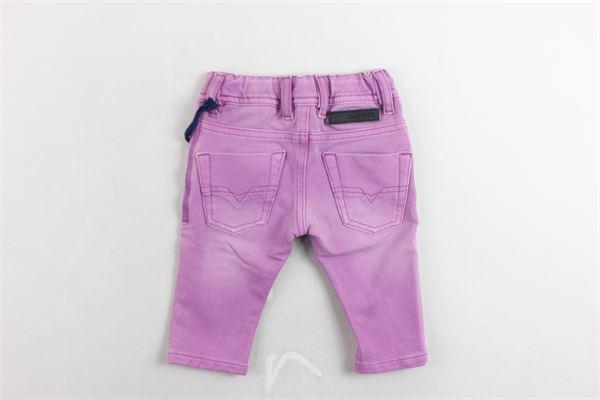 jeans tinta unita 5 tasche elastico in vita DIESEL | Jeans | 00K1EX-00X2I-K100VIOLA