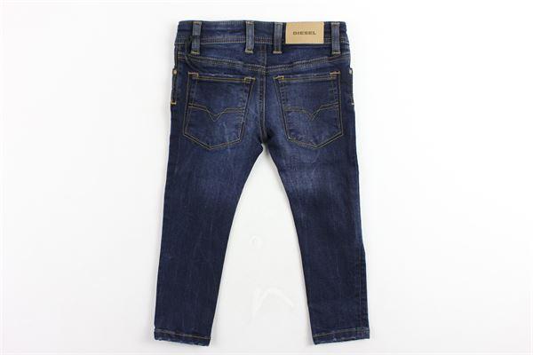 jeans 5 tasche tinta unita girovita regolabile modello skinny DIESEL | Jeans | 00K1UCBLU