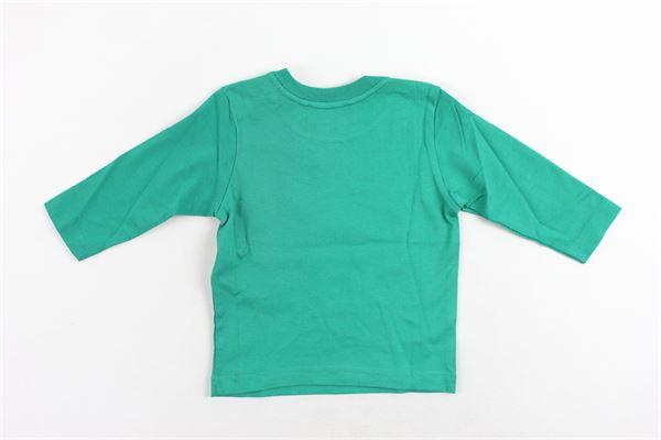 shirt manica lunga in cotone tinta unita con stampa DIESEL | Shirts | 00K1V2-KYAN4-K57AVERDE