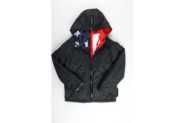 giubbino reversibile con zip bicolore stampa stelle e bandiera gran bretagna DIVISIBILE | Giubbini | IDIVJL250SBLU-NERO