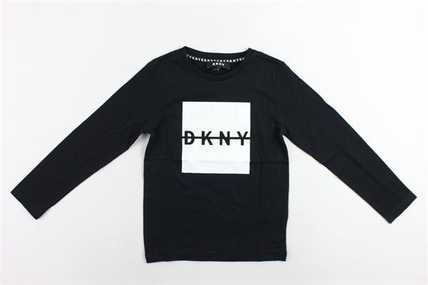 shirt manica lunga tinta unita con stampa DKNY | Shirts | D25C56/09BNERO