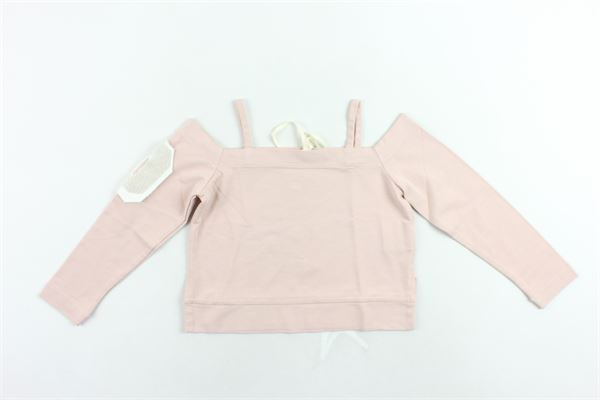 shirt in cotone manica lunga scollo a barca tinta unita DONDUP | Shirts | DFFE28ROSA