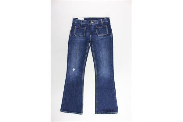 jeans 5 tasche tinta unita a zampa DONDUP | Jeans | DFMA26BLU