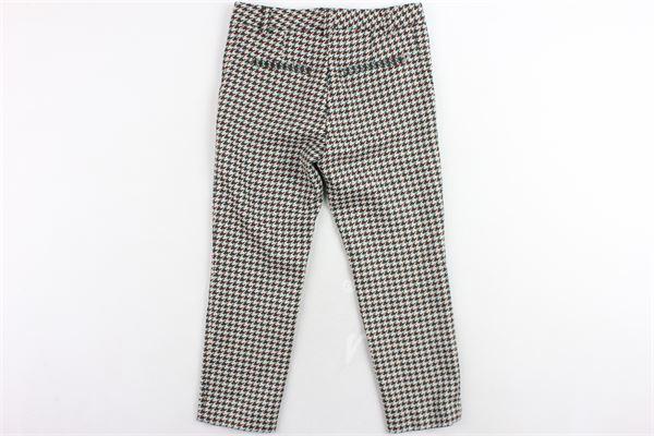 pantalone tasca a filetto microfantasia DONDUP | Pantaloni | DFPA12P.2VERDE
