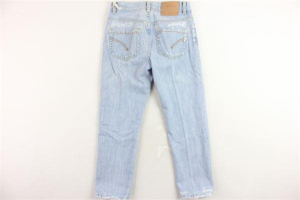 jeans 5 tasche tinta unita con strappi DONDUP | Jeans | DFPA22DF159GAZZURRO