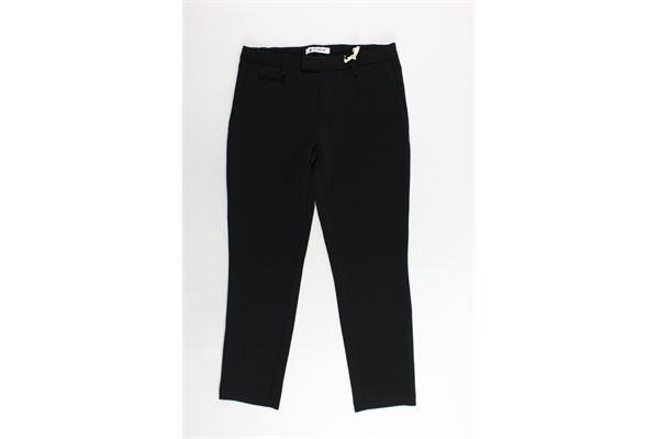 pantalone tinta unita tasca america girovita regolabile DONDUP | Pantaloni | DFPA31TV380NERO