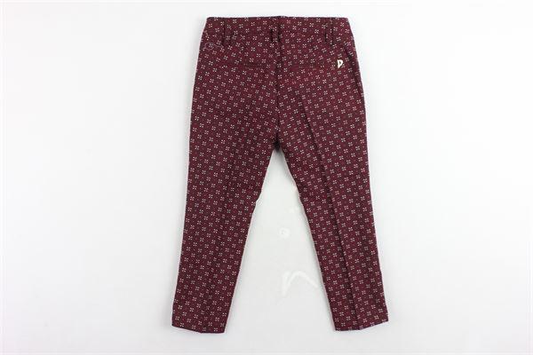 pantalone tasche a filo tinta unita microfantasia DONDUP | Pantaloni | DFPA31TV496BORDEAU