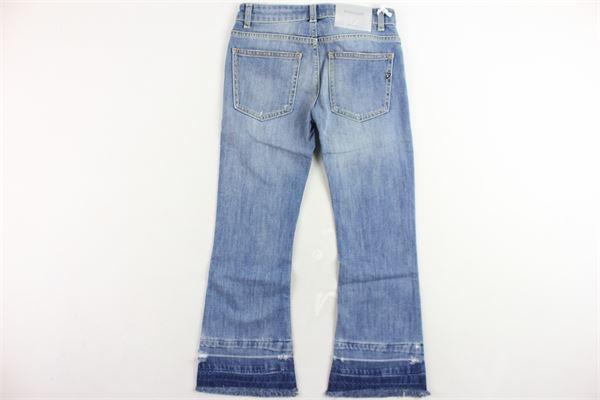 jeans 5 tasche tinta unita a zampa DONDUP | Jeans | YP272AZZURRO