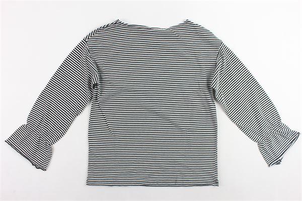 shirt manica lunga rigata DOU DOU | Shirts | 108086BIANCO