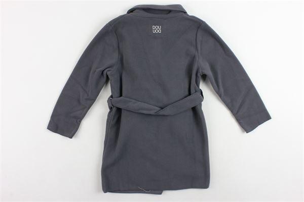 cappotto in pile con cintura DOU DOU | Giubbini | 208158GRIGIO