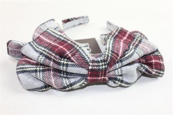 cerchietto fantasia scozzese con fiocco DOU DOU | Cerchietti | UGREF010925BIANCO
