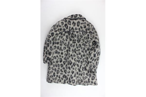 cappotto lungo in lana fantasia maculata DOU DOU | Giubbini | UJRCS212012FANGO
