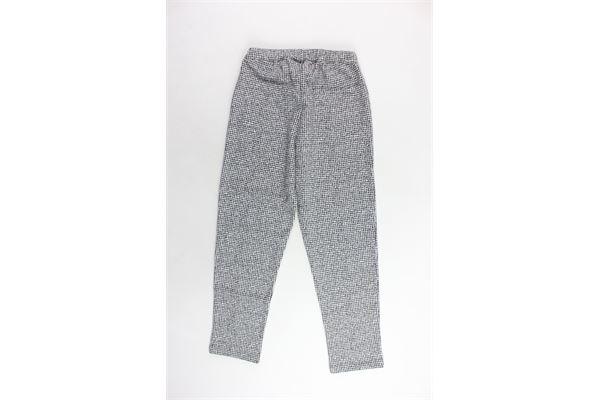 pantalone elastico in vita microfantasia DOU DOU | Pantaloni | UJRFP522232BIANCO