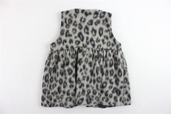gilet lungo in lana fantasia maculata DOU DOU | Gilet | UJRGI022012FANGO