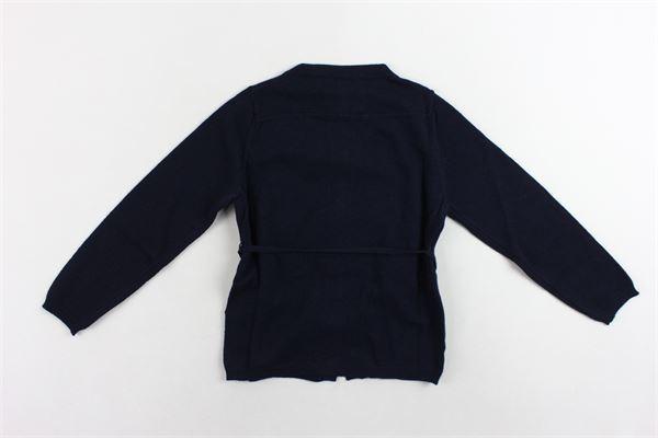 cardigan manica lunga con cintura DOU DOU | Maglie | UJRMA017041BLU