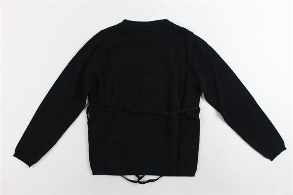 cardigan manica lunga con cintura DOU DOU | Maglie | UJRMA017041NERO