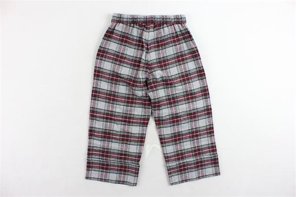 pantalone elastico in vita a palazzo scozzese DOU DOU | Pantaloni | UJRPA050925GRIGIO