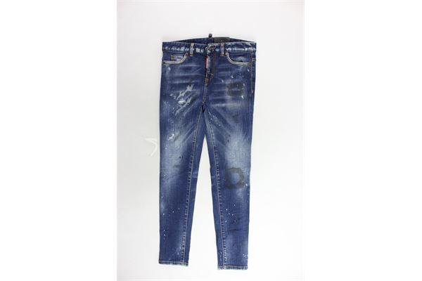 jeans tinta unita 5 tasche DSQUARED | Jeans | DQ01DX-D00PQBLU