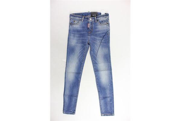 jeans tinta unita 5 tasche DSQUARED | Jeans | DQ01DX-D00PUBLU