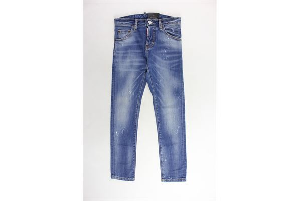 jeans 5 tasche tinta unita DSQUARED | Jeans | DQ021D-D00REBLU