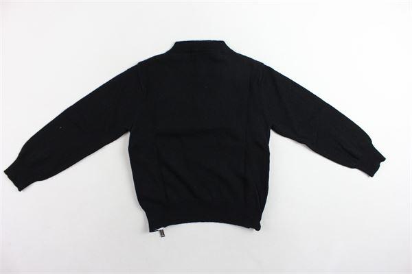 maglione girocollo tinta unita con zip laterali DSQUARED | Maglie | DQ02EZD00NUNER0NERO