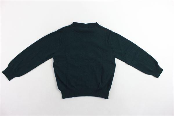 maglione girocollo tinta unita con zip laterali DSQUARED | Maglie | DQ02EZD00NUNER0VERDE