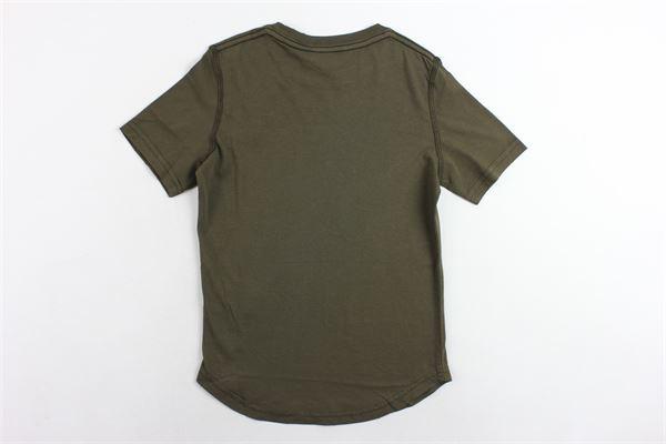 t-shirt mezza manica tinta unita con stampa DSQUARED | T-shirts | DQ02M8D00MRDQ558VERDE MILITARE