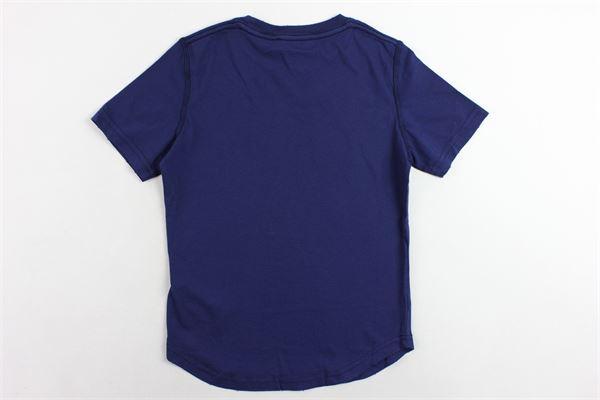 t-shirt mezza manica tinta unita con stampa DSQUARED | T-shirts | DQ02M8D00MRDQ859BLU
