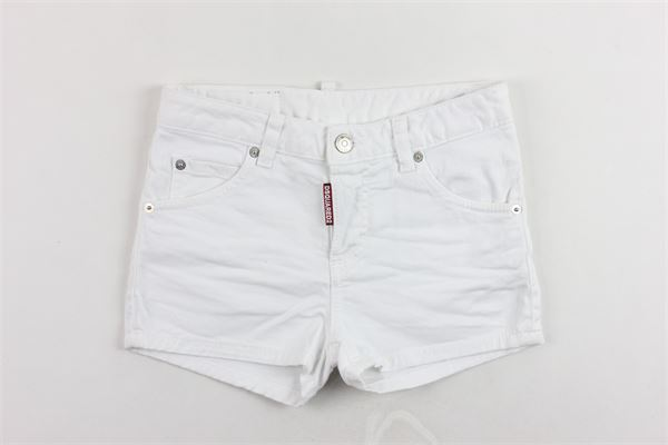 shorts in denim tinta unita DSQUARED | Shorts | DQ02QRBIANCO