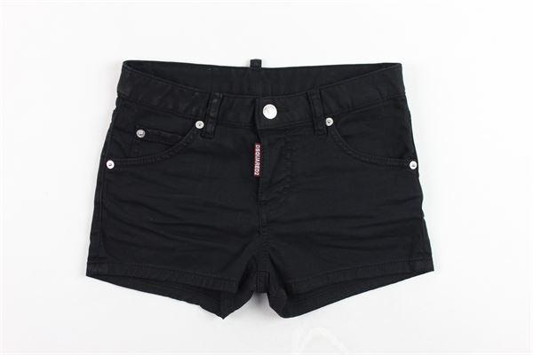 shorts in denim tinta unita DSQUARED | Shorts | DQ02QRNERO