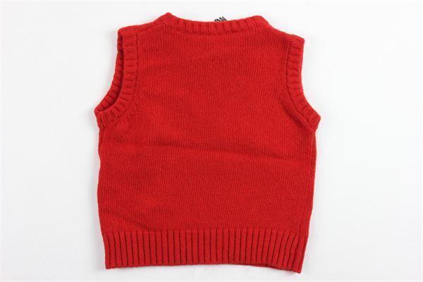 gilet in lana tinta unita con stampa DSQUARED | Gilet | DQ03NLROSSO