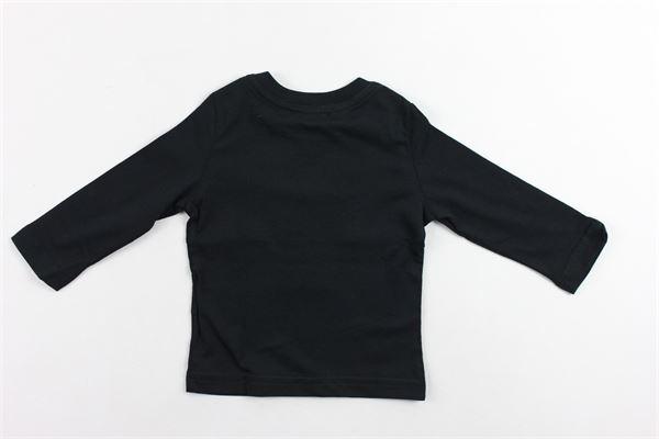 shirt manica lunga tinta unita con stampa DSQUARED | Shirts | DQ03P6NERO