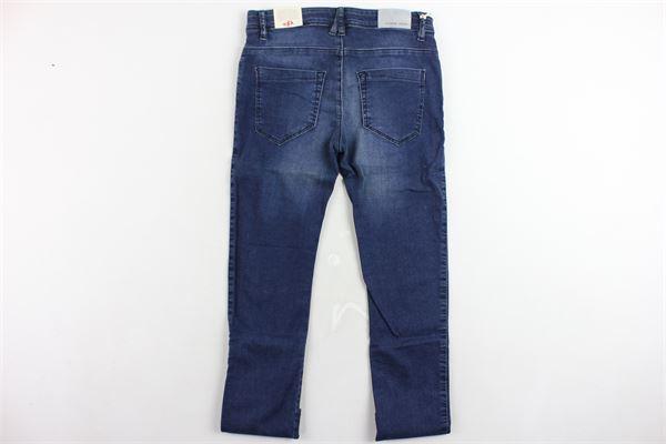 jeans 5 tasche tinta unita girovita regolabile EDDIE PEN | Jeans | J365M.4BLU