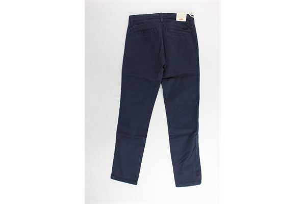 pantalone tasca america tinta unita girovita regolabile EDDIE PEN | Pantaloni | P333G.1BLU