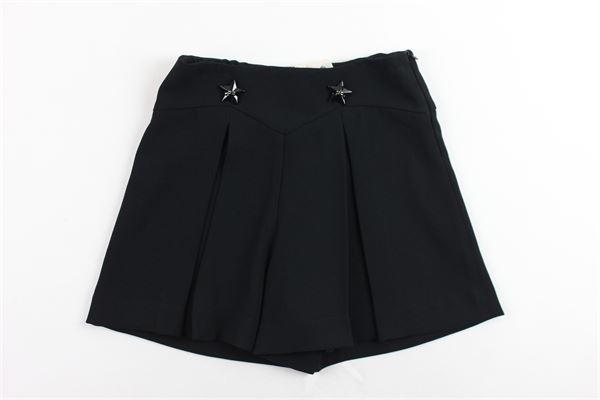 shorts vita alta tinta unita con applicazioni ELISABETTA FRANCHI | Shorts | EFBE14NERO