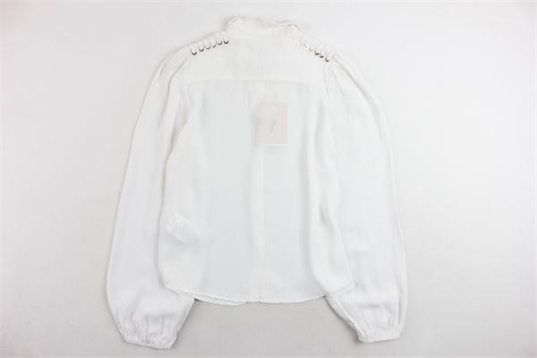 camicia manica lunga tinta unita ELISABETTA FRANCHI | Camicie | EFCA38GA40BIANCO