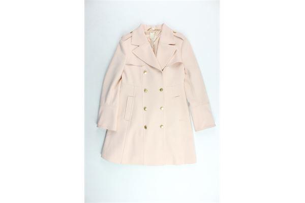 cappotto lungo tinta unita ELISABETTA FRANCHI | Giubbini | EFGB03GA38QE23ROSA