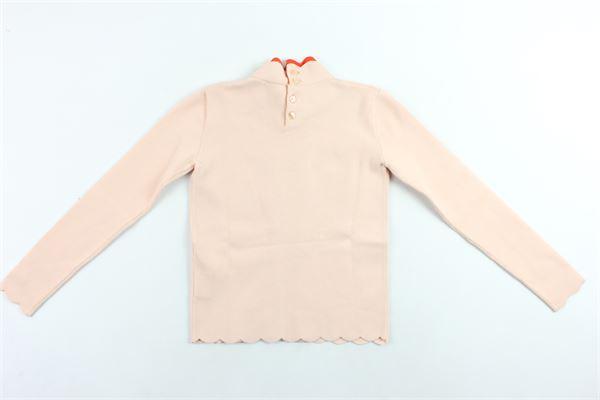 maglione mezzo collo tinta unita con rouge in contrasto ELISABETTA FRANCHI | Maglie | EFMA29ROSA