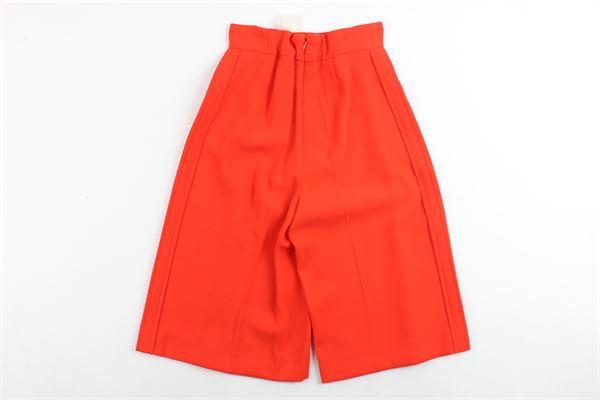 pantalone vita alta a palazzo tinta unita ELISABETTA FRANCHI | Pantaloni | EFPA01ARANCIONE